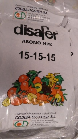 ABONO GRANULADO FITOAGRICOLA 15-15-15 / DISAFER 15-15-15 (25 Kgr.)