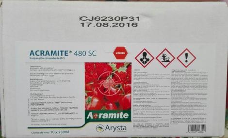 ACRAMITE 480SC (5 l. - Caja de 20x250 c.c.).