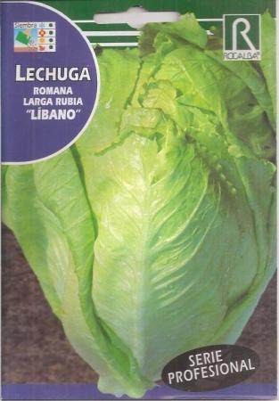 LECHUGA LARGA RUBIA LIBANO Pildorada (50 Semillas).