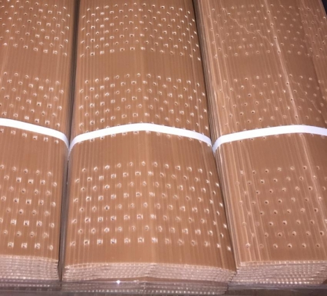 PROTECTOR DOBLE CAPA PLEGADO 50 cm. Perforado (10 unid.)