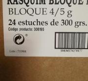RASQUIM PASTA FRESCA BD 29 (Caja 24 150x15x10...