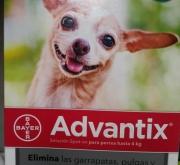 ADVANTIX ® Para perros ≤ de 4 Kgr. (4 Unidades).