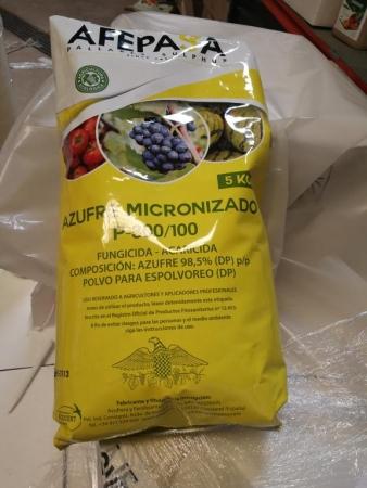 AZUFRE MICRONIZADO P-300/100 (5 Kgr.).