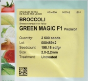 BROCOLI GREEN MAGIC f-1 (2.500 Semillas).