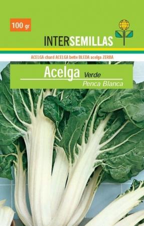 ACELGA VERDE PENCA BLANCA ECOLÓGICA (100 gr.).