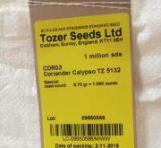 CILANTRO CALYPSO (1000000 de Semillas)