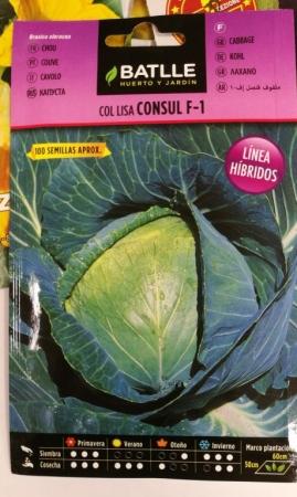 COL CONSUL F1 (0,34 gr.- Cerca de 100 Semillas).