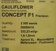 COLIFLOR CONCEPT F-1 (2.500 Semillas)