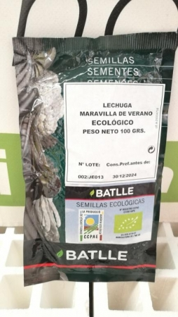 LECHUGA MARAVILLA DE VERANO ECOLÓGICA Sel. Maresme (100 gr.).