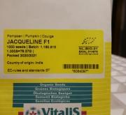 CALABAZA JACQUELINE F1 ECOLÓGICA (1000 Semillas).