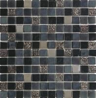 Durstone mosaico Premium Glam Negro 30x30