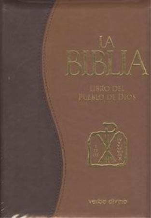 """LA BIBLIA/LIBRO DEL PUEBLO DE DIOS """"PIEL BITONO"""" """"ESTUCHE CREMALLERA"""""""