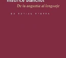 DE LA ANGUSTIA AL LENGUAJE / BLANCHOT, MAURICE