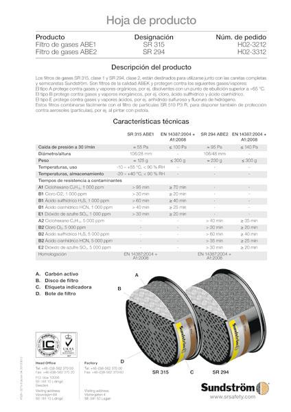 Filtro de gases SR315