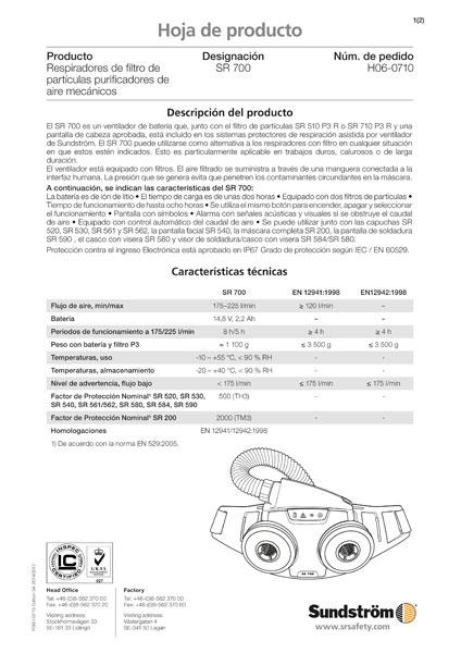 Ventilador SR 700