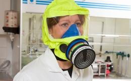 Mascarillas respiratorias de seguridad para laboratorios