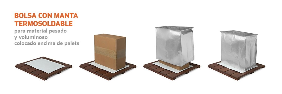 Bolsa 3D con manta termosoldable