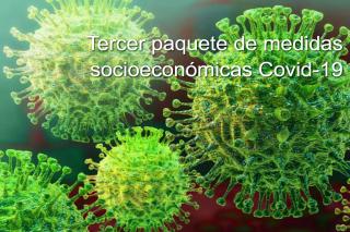 Medidas socioeconómicas, laborales y fiscales para paliar los efectos de la crisis sanitaria Covid-19. (Paquete 3º)
