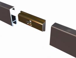 Conector latón cliprail