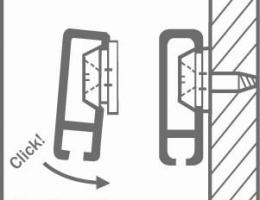 Esquema de colocación del sistema cliprail